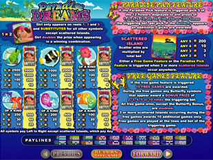 free Paradise Dreams slot mini symbol