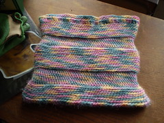 Blocked crocheted bag