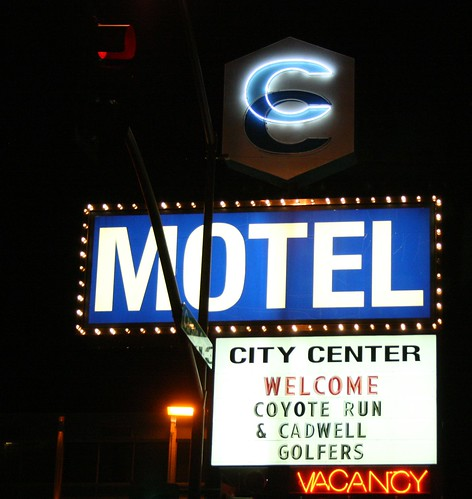 City Center Motel Night