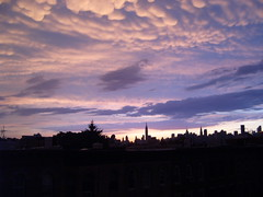 Sunset after at thunderstorm (yankeesmann1918) Tags: nyc sunset skyline thunderstorm mammatus
