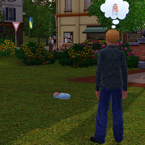 Yes, random townie, that is an abandoned larva-baby