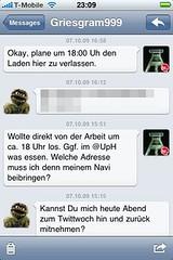 Tweetie 2-Screenshot: direct messages