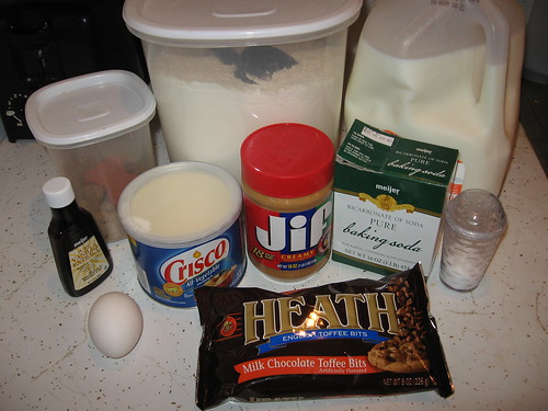 Heath Bits Peanut Butter Cookies Ingredients