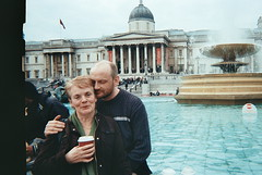 love makes the world go round. (lizzieorchard) Tags: london love fountain square dad trafalgar romance mum