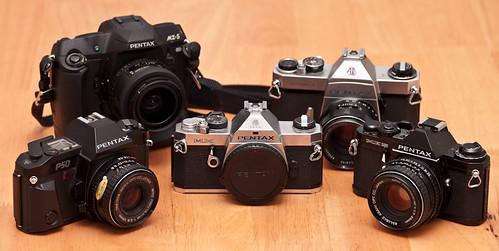 Pentax film cameras