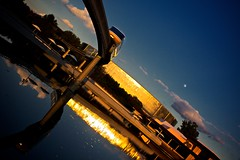 Reflections of Sunset (Don Sullivan) Tags: reflection canon epcot monorail waltdisneyworld canonef2470mmf28lusm testtrack worldshowcase 50d canon50d wdwecmkdhs