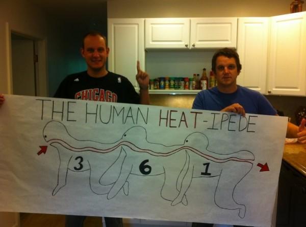human heat-ipede