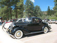 vintage cars on the road - Chevrolet 1936 2-Door 5-Window Coupe