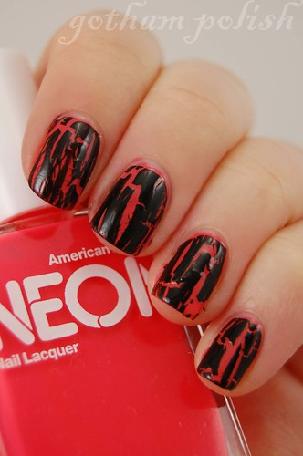 American Apparel Neon Red Shatter