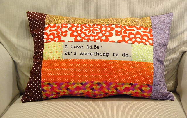 Love life pillow, view 2