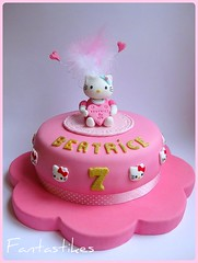 Torta Hello Kitty / Hello Kitty Cake (Fantasticakes (Ccile)) Tags: pink girl cake hellokitty birthdaycake caketopper sugarmodelling