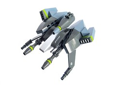 Hitokiri (Fredoichi) Tags: lego space starfighter cannonfodder shmup fredoichi