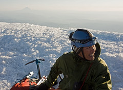 Trung on the Mt Hood Summit