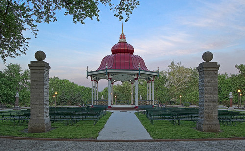 Tower Grove Park, in Saint Louis, Missouri, USA - Music Bandstand