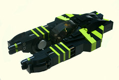 XR-21 Blacklime 01 (Brainbikerider) Tags: lego space spaceship cyberpunk moc starfighter foitsop xr21