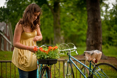 (Kiley Oblisk) Tags: morning flowers spring gardening bikes molly marigolds