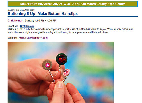 Button It Up at Maker Faire!