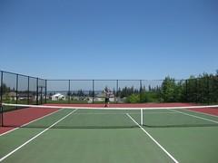 Service! (StubbyFingers) Tags: park ryan tennis snoqualmie tenniscourt serve project365 snoqualmieridge 149365 carmichaelpark