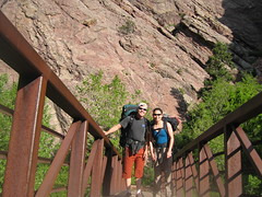 Barry & Aika in Eldorado Canyon