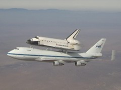 Shuttle Atlantis Takes Off From Dryden (6/1/09) (NASA's Marshall Space Flight Center) Tags: atlantis spaceshuttle piggyback edwardsairforcebase ferryflight drydenresearchcenter