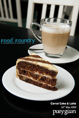 Carrot Cake & Latte (pueyguan) Tags: food coffee cake dessert carrot layers latte carrotcake foodfoundry d700 afsnikkor2470mmf28ged