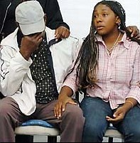 Distressed - Anthony Walkers father & sister