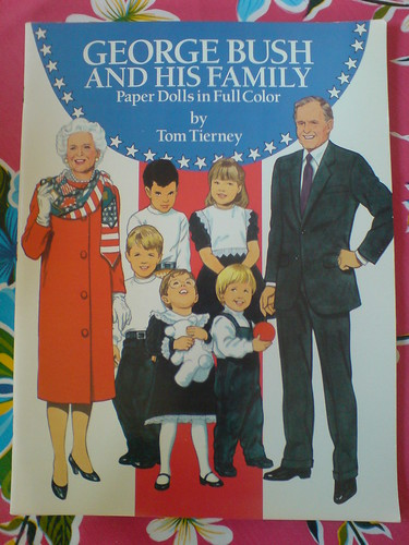 George & Barbara Bush Paper Dolls - Tom Tierney