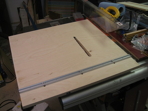 failed resawing jig base