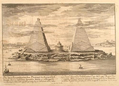 007- Piramides de Moeris-Entwurf einer historischen Architektur 1721- © Universitätsbibliothek Heidelberg