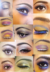 Eye Make up (Art Fountain) Tags: colour collage crystals eyelashes stones makeup eyeshadow styling talented visibly mybrowneyedgirl eyebrowshape visiblytalented