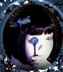Coraline Jones!? (hvyilnr) Tags: movie fun key dragonfly bored neil button iphoto coraline gaimen befunky hvyilnr