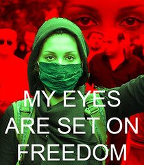 My Eyes Are Set On Freedom #Iranelection (harrystaab) Tags: freedom eyes election iran protest demonstration tehran fraud neda iranelection gr88 zhupix