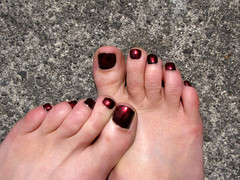 red metallic black (shannonkringen) Tags: red selfportrait black feet metallic nailpolish synchronicity