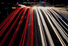 Car (Traffic) Light Trails - Coronation Dr. Brisbane (CAUT) Tags: longexposure cars car night noche reflex nikon nocturnal traffic australia brisbane le qld queensland nocturna rushhour milton dslr jam 2009 nocturno lighttrail d60 largaexposición coronationdrive largaexposicion caut nikond60 carlighttrail trafficlighttrails coronationdr trafficlighttrail