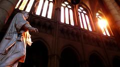 cathdrale saint-jean de lyon - luminescent (Xuan Che) Tags: city travel light summer sculpture sunlight france history church window june architecture europe catholic cathedral lyon mosaic saints christian altar 2009 worldheritage saintjean panasoniclx2