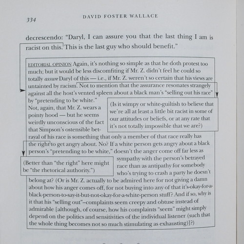 'Host' by David Foster Wallace in the non-fiction collection 'Consider the Lobster'.