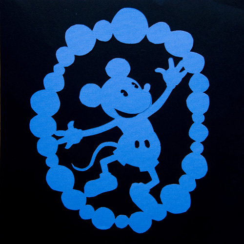 Mickey Mouse Paper Cutting