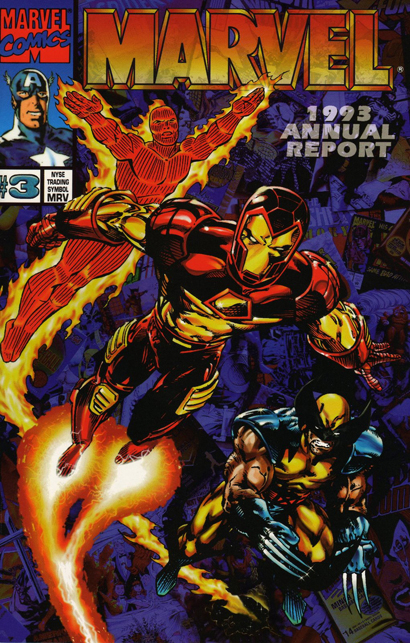 marvel 1993 annual report cover
