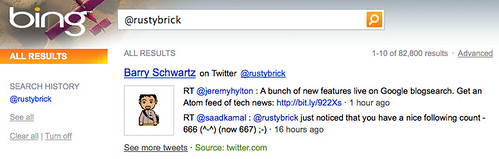 Bing & Twitter: Real Time?