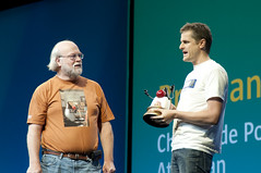 "Brendan Humphreys and James Gosling, General Session ""The Toy Show"" on June 5, JavaOne 2009 San Francisco"
