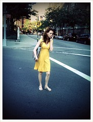 """Summer Beauty 2009"" (Sion Fullana) Tags: summer urban newyork beauty yellow feminine streetphotography helga allrightsreserved onthephone beautifulgirl newyorkers iphone prettydress yellowdress isntshelovely urbanshots urbannewyork girlonthephone iphonephotography iphoneshots camerabagapp iphoneography iphoneographer sionfullana helgastyle girlwithayellowdress summerbeauty2009 girlinflipflops throughthelensofaniphone"