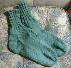 Green Wool Socks Complete