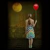 Dialogue with the Moon (pixel_unikat) Tags: red moon girl balloon surreal fantasy 500x500 photoshopcreation memoriesbook texturesquared themonalisasmile memoriesbook5 thankstojoessistahfortexture thankstointergalacticstockformodel