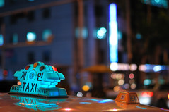 Best TAXI Driver (christian.senger) Tags: road city travel blue light urban car digital geotagged outdoors nikon neon bokeh taxi korea explore seoul hdr d300 photomatix nikoncapturenx2 christian_senger:year=2009