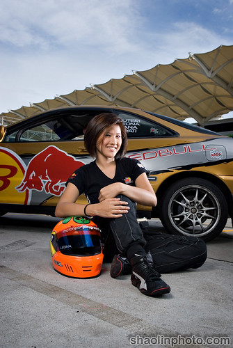 Leona Chin & Red Bull Car