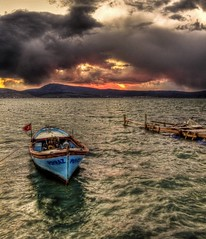 Not from holiday ... (Nejdet Duzen) Tags: trip travel sunset sea storm clouds turkey boat cloudy trkiye deniz sandal izmir bulut gnbatm turchia turkei seyahat urla zbek ozbek frtna saariysqualitypictures turkeit
