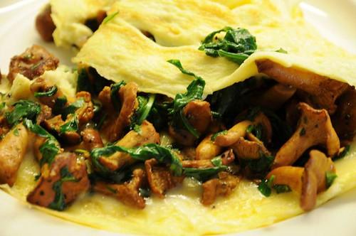 chanterelle-omelet
