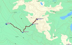Map of the Judge's Route up Arrowsmith