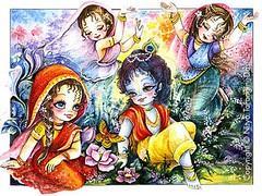 Radha Krishna and Gopis - ISKCON desire tree (ISKCON Desire Tree) Tags: demon krishna radha vrndavana balaram iskcon putana devaki radharani kamsa bakasura aghasura