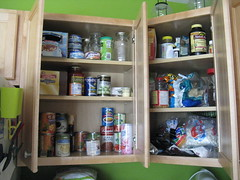 Cupboards before